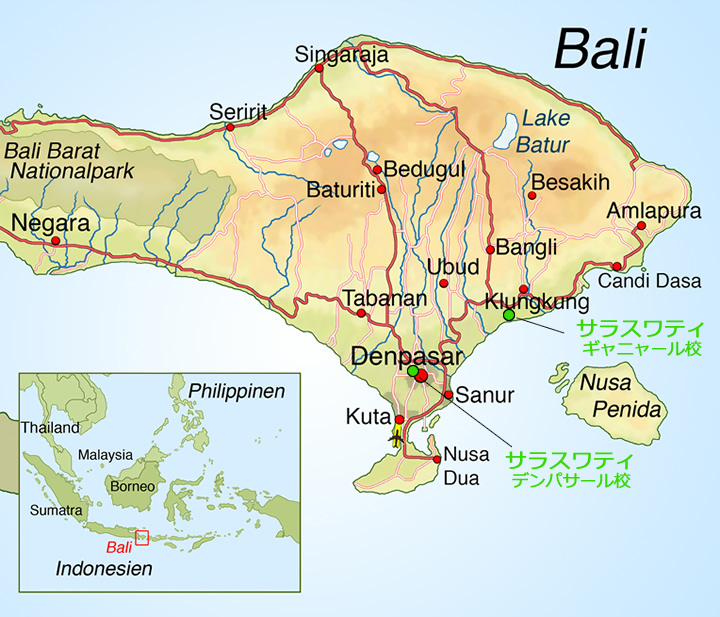 バリ島エステ留学スクール地図